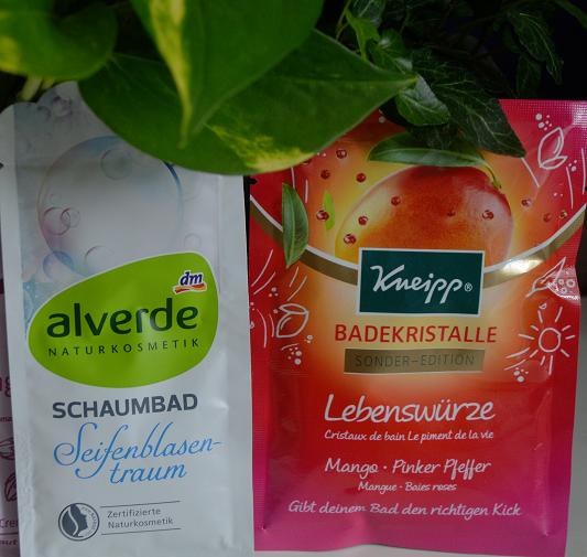 Badezusätze Alverde und Kneipp